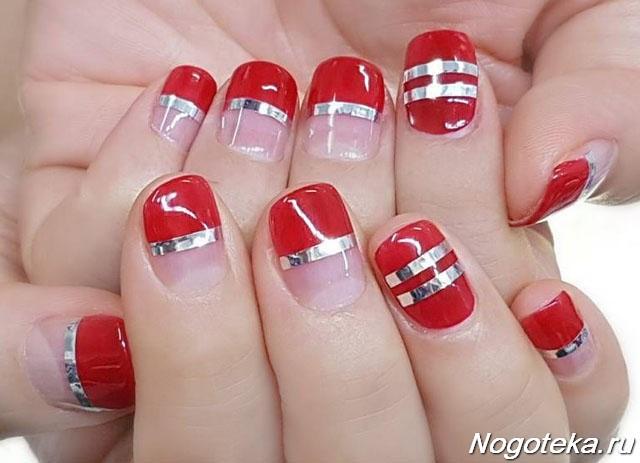 Идеи дизайна ногтей в красном цвете 98
