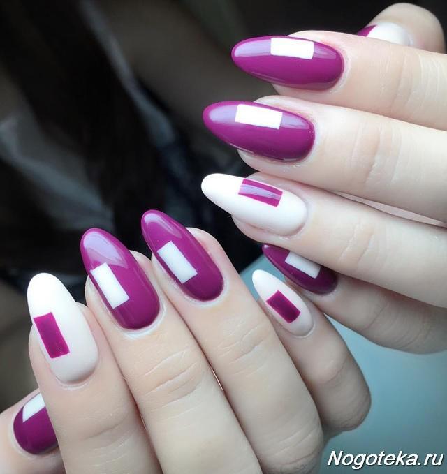 Маникюр баклажановый цвет