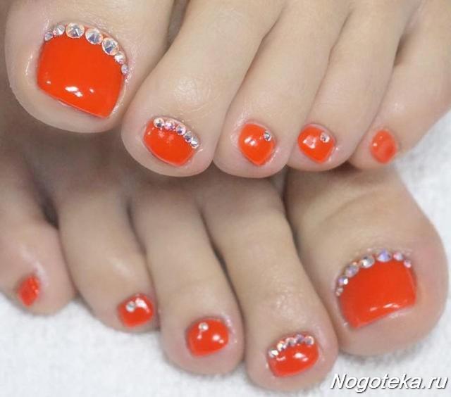 Оранжевый маникюр- пошаговое создание нейл дизайна